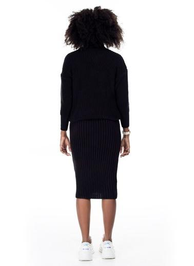 Lela Lela 54553001 Triko Kadın Takım Siyah